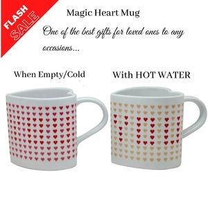 Birthday Gift for Girlfriend Mug | Wife Mug | Changing Color Heart Mug